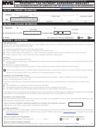 Property Tax Payment Agreement Request - New York City