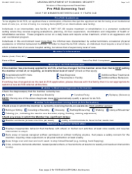 Form DD-099C Pre-pas Screening Tool Only For Members Between 6 And 11 Years Old - Arizona