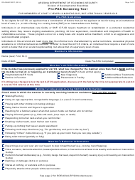 "Form DD-099B ""Pre-pas Screening Tool for Members at Least 2 Years 10 Months Old, but Less Than 6 Years Old"" - Arizona"