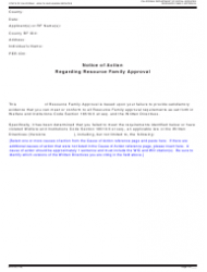 Form RFA 09 Notice Of Action Regarding Resource Family Approval - California