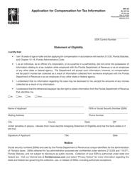 "Form DR-55 ""Application for Compensation for Tax Information"" - Florida"