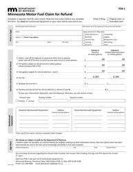 Form PDR-1 Minnesota Motor Fuel Claim for Refund - Minnesota