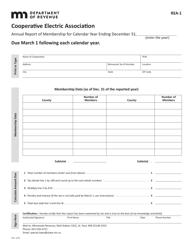 Form REA-1 Cooperative Electric Association - Annual Report of Membership - Minnesota