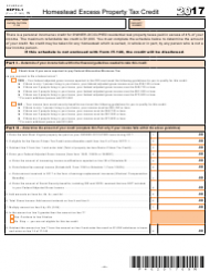 Form IT-140 2017 Schedule Heptc-1 - Homestead Excess Property Tax Credit - West Virginia