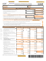 Form IT-210 2017 Underpayment of Estimated Tax by Individuals - West Virginia