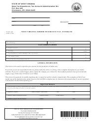 Form WV/SEV-400t Timber Severance Tax - Estimate - West Virginia