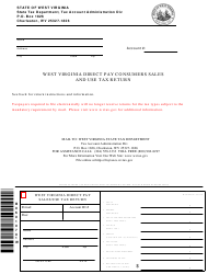 Form WV/CST-210 West Virginia Direct Pay Consumers Sales and Use Tax Return - West Virginia
