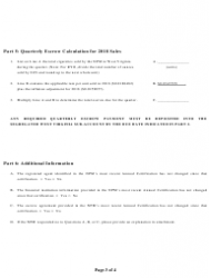 2018 Non-participating Manufacturer Quarterly Certificate of Compliance Form - West Virginia, Page 3