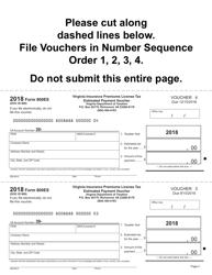 Form 800ES 2018 Insurance Premiums License Tax Estimated Tax Payment Vouchers - Virginia, Page 4