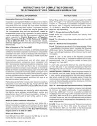 Instructions for Form 500t - Telecommunications Companies Minimum Tax