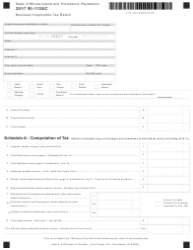 Form RI-1120C 2017 Business Corporation Tax Return - Rhode Island