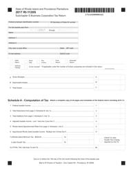 Form RI-1120S 2017 Subchapter S Business Corporation Tax Return - Rhode Island