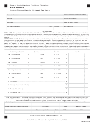 "Form HTDT-3 ""Hard-To-Dispose Material Wholesale Tax Return"" - Rhode Island"