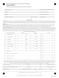 Form HTDT-3 Hard-To-Dispose Material Wholesale Tax Return - Rhode Island