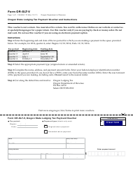 "Form OR-SLT-V ""Oregon State Lodging Tax Payment Voucher and Instructions"" - Oregon"