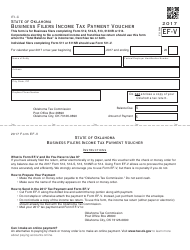 Form EF-V Business Filers Income Tax Payment Voucher (For Form 512, 512-s, 513, 513-nr or 514) - Oklahoma