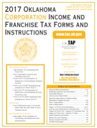 2017 Oklahoma Corporation Income and Franchise Tax Forms and Instructions - Oklahoma