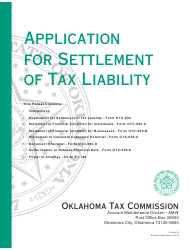 Packet S - Application for Settlement of Tax Liability - Oklahoma