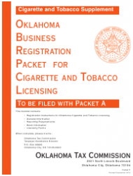 Form C Oklahoma Business Registration Packet for Cigarette and Tobacco Licensing - Oklahoma