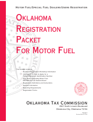 Packet F - Oklahoma Registration Packet for Motor Fuel - Oklahoma