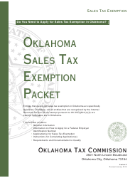 Packet E - Oklahoma Sales Tax Exemption Packet - Oklahoma