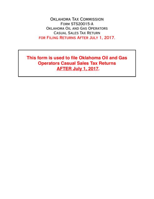 OTC Form STS20015-A  Printable Pdf