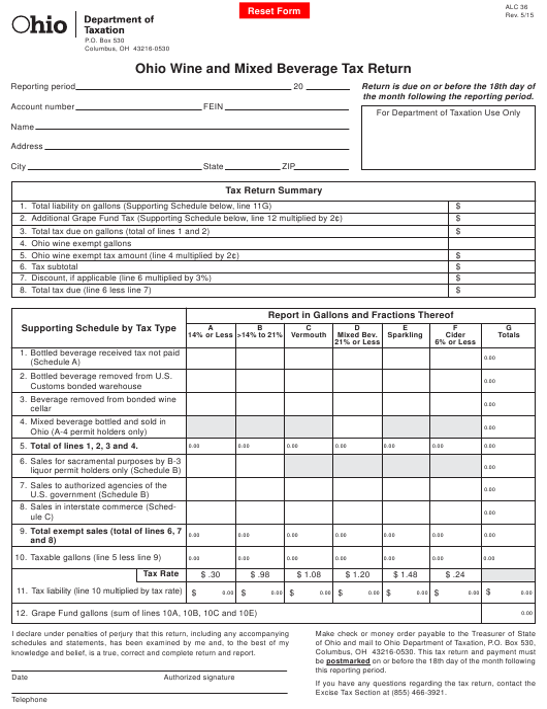 Form ALC36  Printable Pdf
