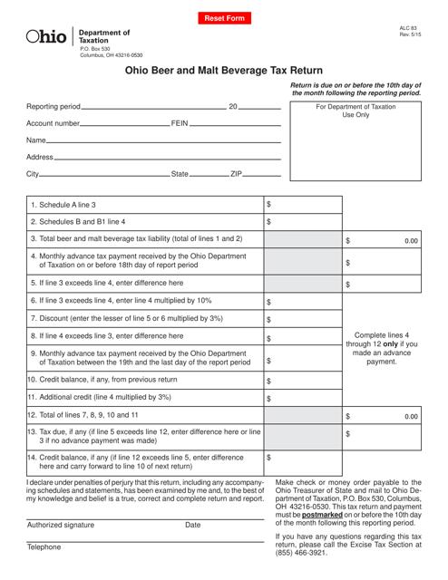 Form ALC83  Printable Pdf