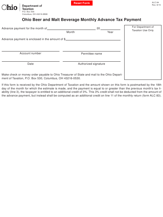 Form ALC84  Printable Pdf