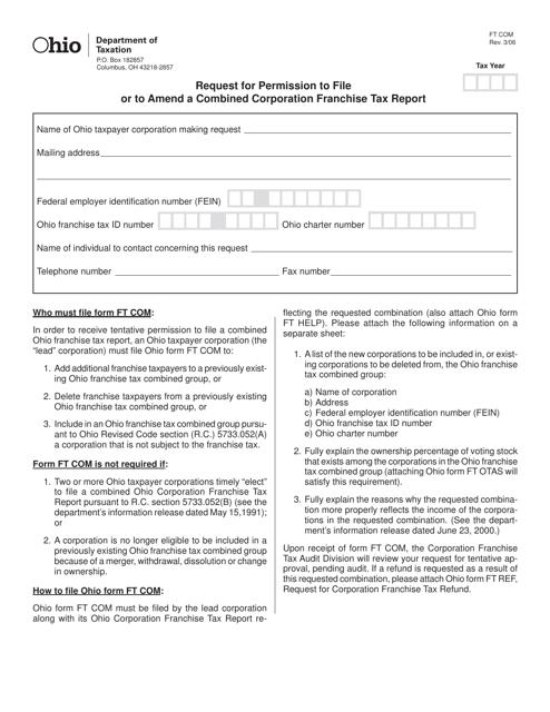 Form FT COM Printable Pdf