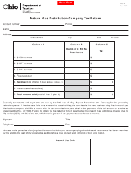 Form MCF 2 Natural Gas Distribution Company Tax Return - Ohio