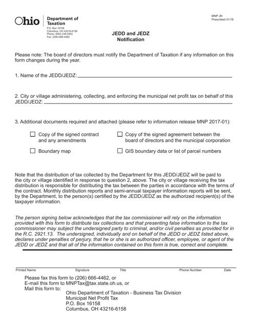 Form MNP JN  Printable Pdf
