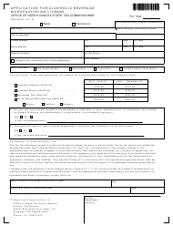 Form SFN 59457 Application for Alcoholic Beverage Manufacturing License - North Dakota