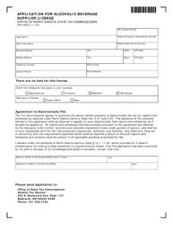 Form SFN 59454 Application for Alcoholic Beverage Supplier License - North Dakota