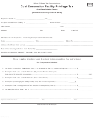 Form 25802 Coal Conversion Facility Privilege Tax - North Dakota