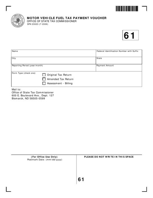 Form SFN 23023 Printable Pdf
