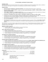 "Instructions for Form T12 ""Oil Report Amendment"" - North Dakota"