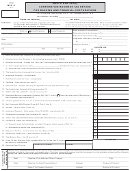 Form BFC-1 Corporation Business Tax Return for Banking and Financial Corporations - New Jersey