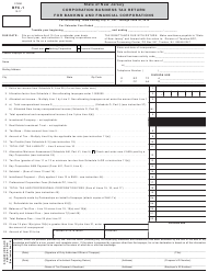 "Form BFC-1 ""Corporation Business Tax Return for Banking and Financial Corporations"" - New Jersey"
