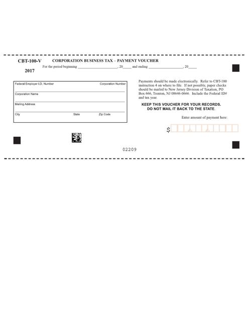Form CBT-100-V 2017 Printable Pdf