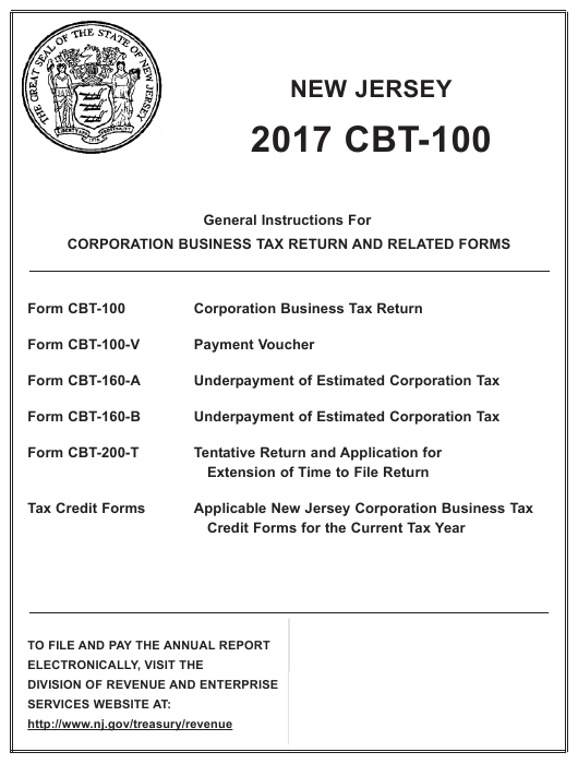 Instructions For Form Cbt 100 Corporation Business Tax Return