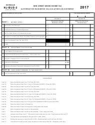 Form NJ-1040 2017 Schedule Nj-Bus-2 - Alternative Business Calculation Adjustment - New Jersey