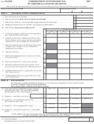 Form NJ-2210 2017 Underpayment of Estimated Tax by Individuals, Estates or Trusts - New Jersey