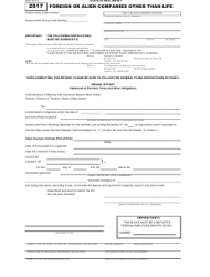 Form EM 2017 Foreign Or Alien Companies Other Than Life - New Jersey