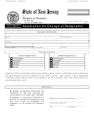 "Form DMF-5 ""Application for Change of Designation"" - New Jersey"