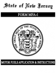 Form MFA-1 Combined Motor Fuels License Application - New Jersey