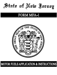 "Form MFA-1 ""Combined Motor Fuels License Application"" - New Jersey"