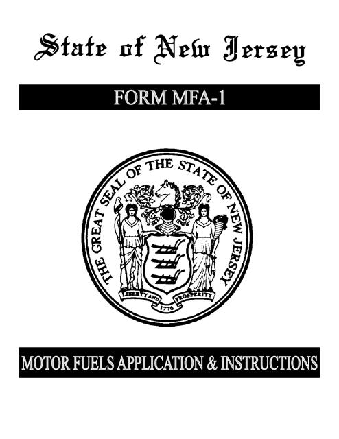 Form MFA-1  Printable Pdf