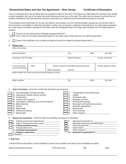 Form ST-SST  Printable Pdf