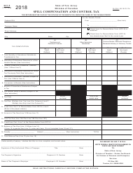 "Form SCC-5 ""Spill Compensation and Control Tax"" - New Jersey, 2018"